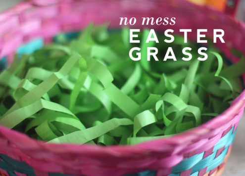 Make No-Mess Easter Grass