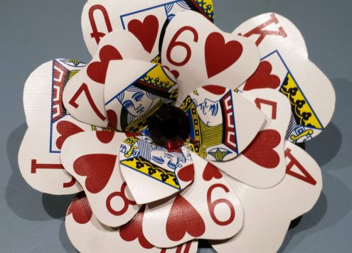 Make a playing card flower