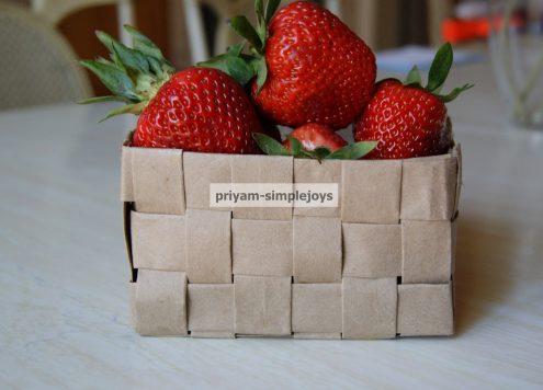 Make a Recycled Paper Bag Basket