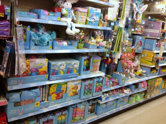 spring and Easter merchandise at Dollar General