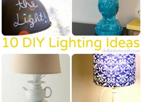 10 DIY Lighting Ideas