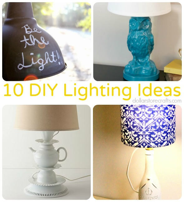 Diy Lighting Ideas: 10 DIY Lighting Ideas To Brighten Up Any Room » Dollar