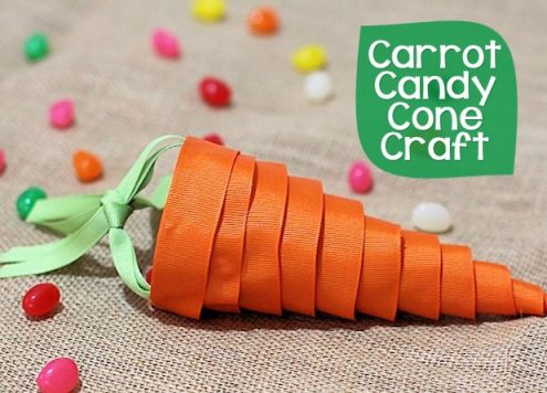 Make a Ribbon Carrot Treat Holder