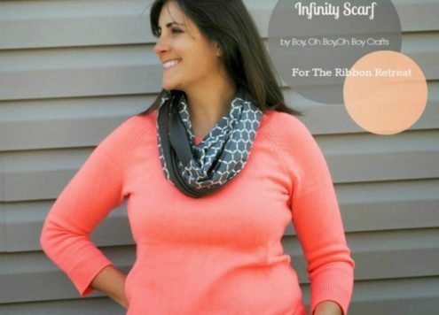 DIY fabric infinity scarf