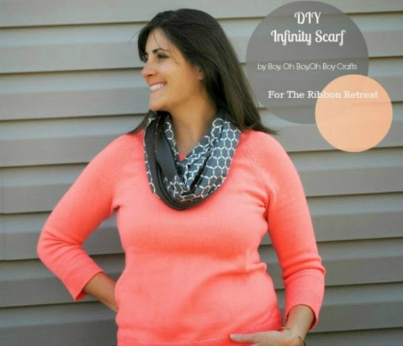 DIY fabric infinity scarf