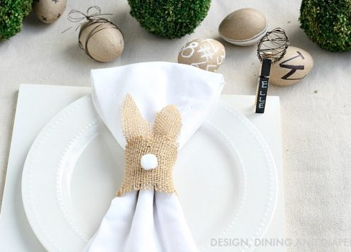 Make Burlap Bunny Napkin Rings