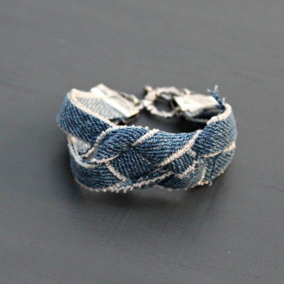 denim bracelet diy