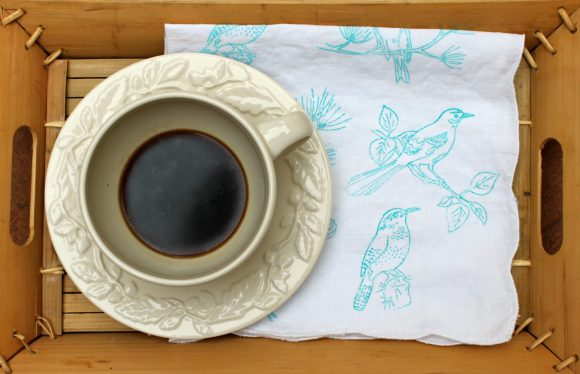diy stamped napkin