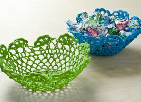 Make Doily Bowls
