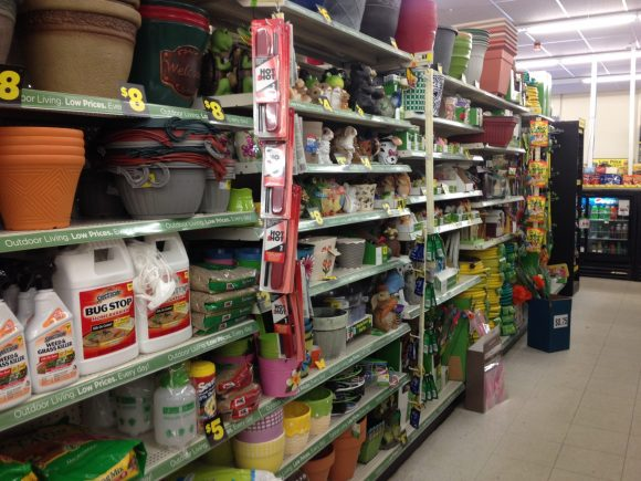garden section at Dollar General