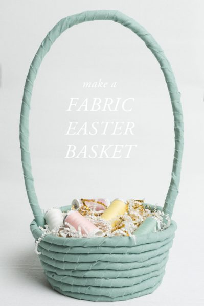 Make a No-Sew Fabric Easter Basket