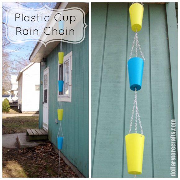 Plastic Cup Rain Chain
