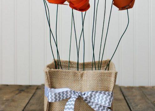 Make a Paper Flower Centerpiece
