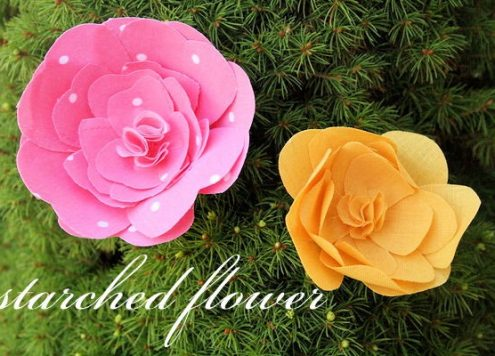 Make Starched Fabric Flowers