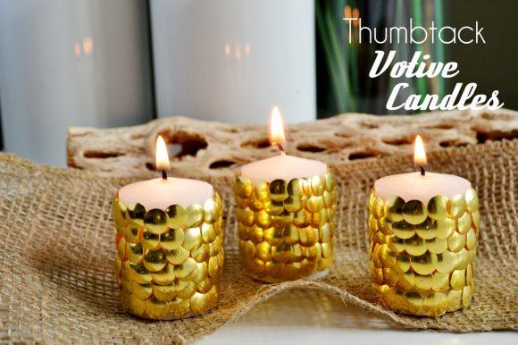 Make Thumb Tack Votive Candles