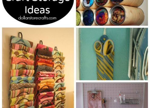 10 Vertical Craft Storage Ideas