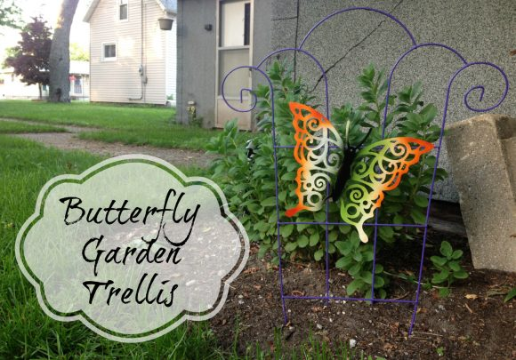 Make a butterfly garden trellis from dollar store stuff