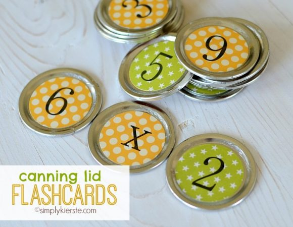 Make Canning Jar Lid Flash Cards