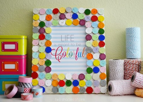 Make a Colorful Wine Cork Picture Frame