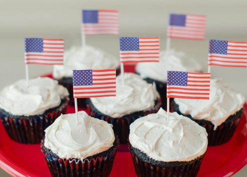 Make Patriotic Dark Chocolate Cupcakes