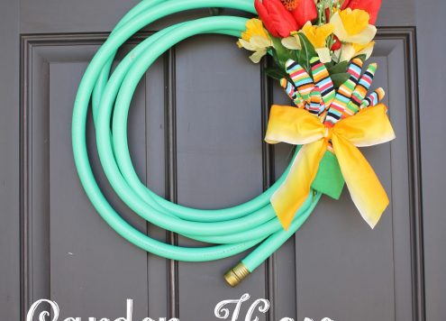 Make a Garden Hose Spring Wreath