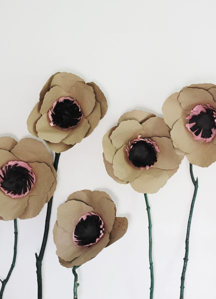 Make Giant Kraft Paper Flowers