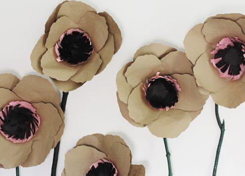 Make Giant Kraft Paper Flowers