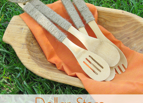 Make Jute Wrapped Wooden Utensils