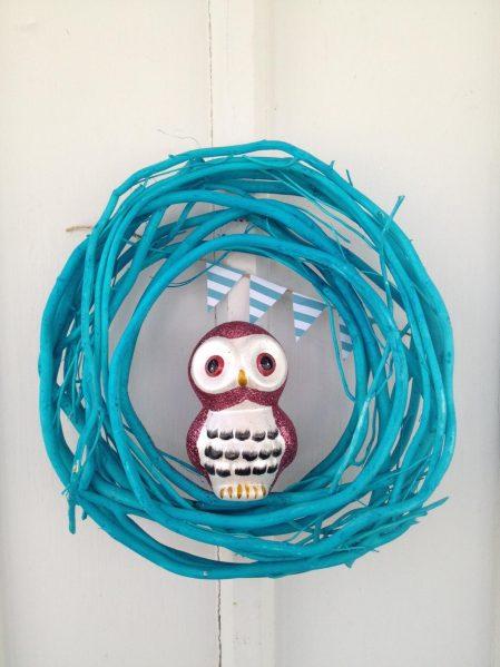 Owl wreath - cute dollar store craft