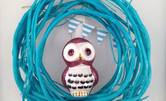 Cute dollar store owl wreath