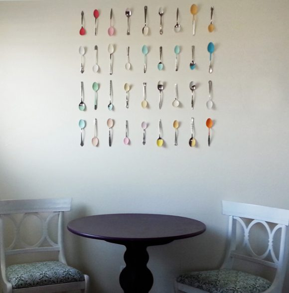 Make Painted Spoon Wall Art » Dollar Store Crafts