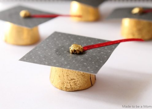Make Rolo Graduation Cap Favors