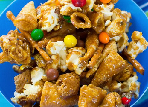 Nut Free Crunchy Sweet and Salty Party Mix Recipe