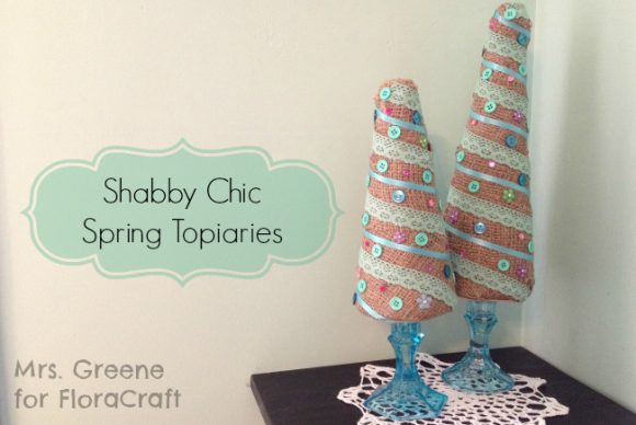 Make Burlap and Lace Topiary Trees