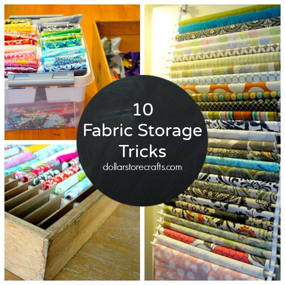 10 Storage Ideas for Your Fabric Stash