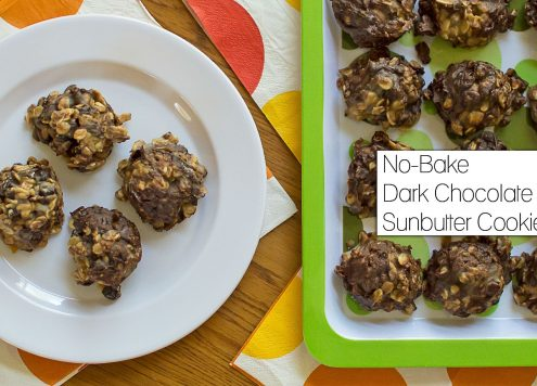 No-Bake Dark Chocolate Sunbutter Cookies