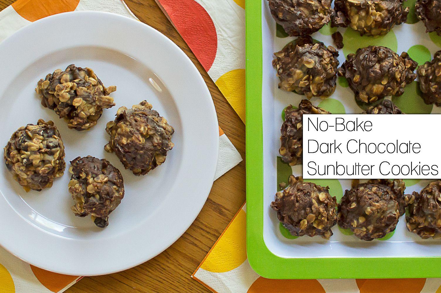 Recipe: No-Bake Dark Chocolate Sunbutter Cookies