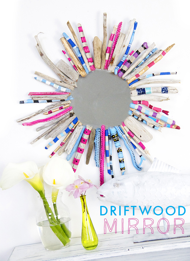 Make a Painted Driftwood Mirror