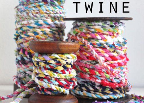 Make Scrap Fabric Twine