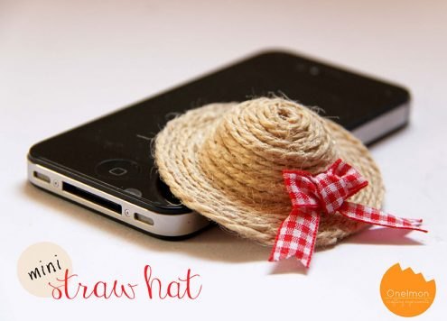 Make a Miniature Straw Hat