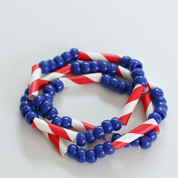 May The 4th Be With You Necklace: Make Patriotic Straw And Bead Jewelry » Dollar Store Crafts