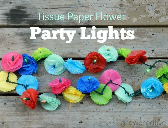 Make Tissue Paper Flower Lights