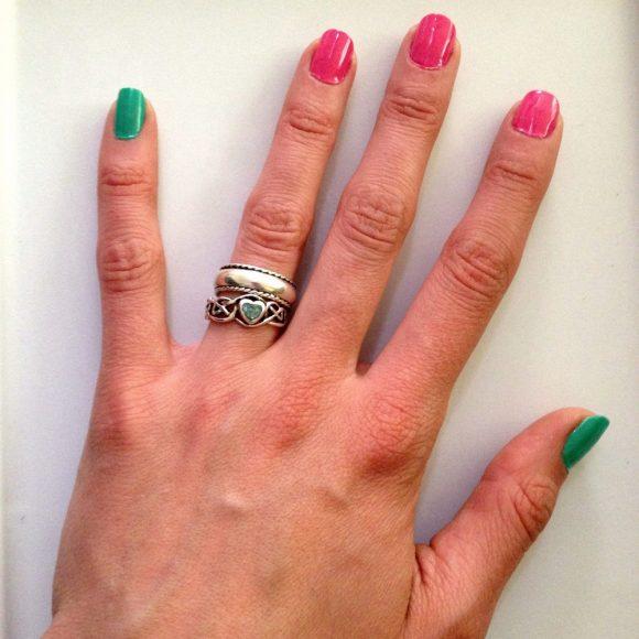 simple watermelon manicure tutorial