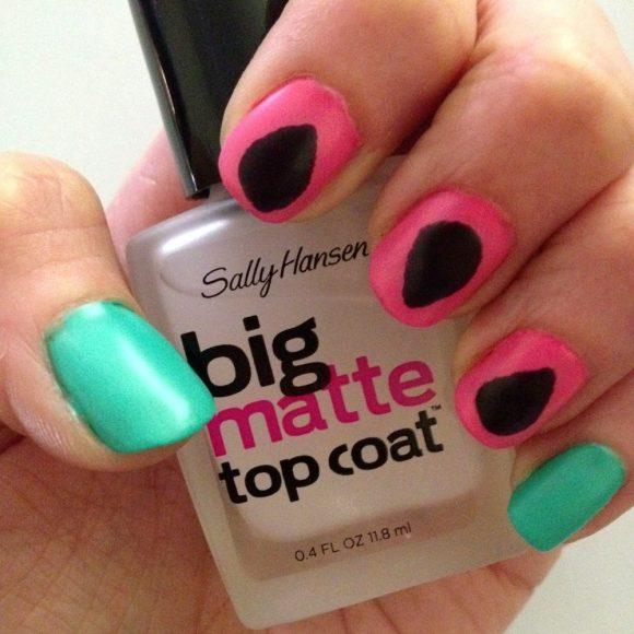 simple watermelon manicure