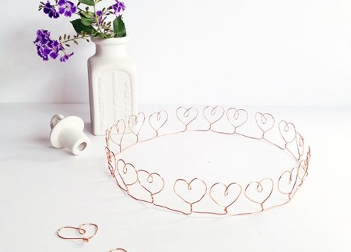 Make a Wire Heart Crown
