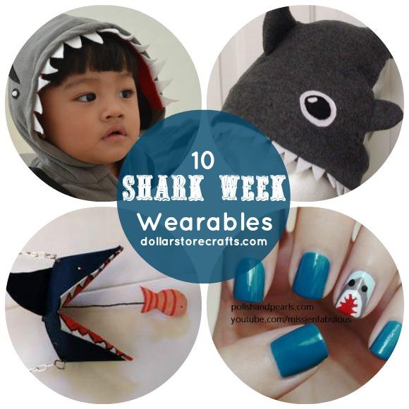 10 Wearable Shark Crafts for Shark Week