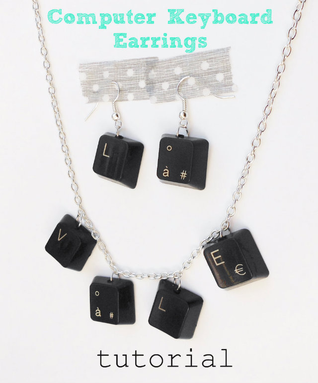 Make Computer Keyboard Jewelry