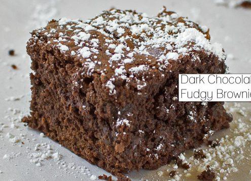 Dark Chocolate Fudgy Brownie Recipe