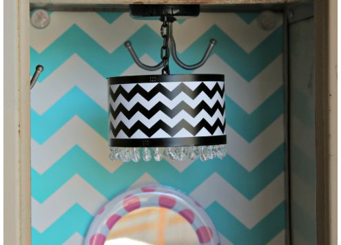 Modern chevron lamp for your locker! Magnetic! LLZ by Lockerlookz