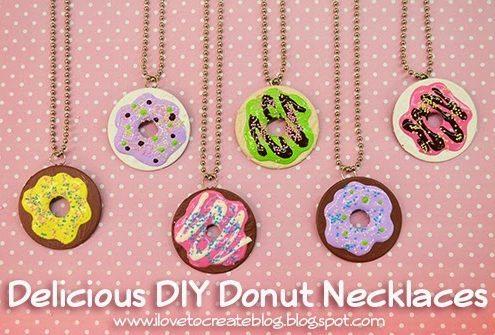Make Donut Necklaces